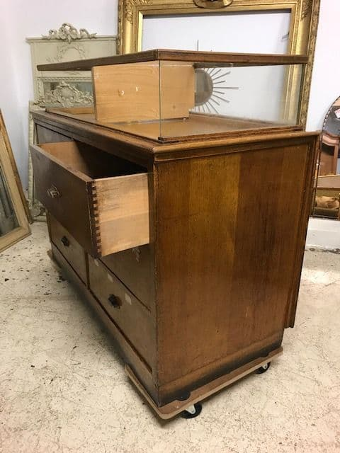 Antique French Haberdashery Shop Counter - RT54